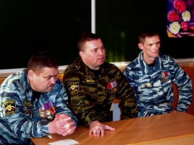 МБОУ СОШ № 59г. БРЯНСКА, встреча с бойцами брянского ОМОНа, 02.02.2012