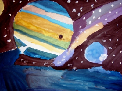 МБОУ СОШ № 59 г. Брянска. НАШ ВЕРНИСАЖ. Конкурс рисунков, посвященный Дню космонавтики (12.04.2012)
