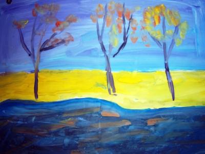 """МБОУ СОШ № 59 г. Брянска. """"Остались дожди и замерзшее лето..."""" Рисунки учеников Г.Н. Сениной (2011)"""